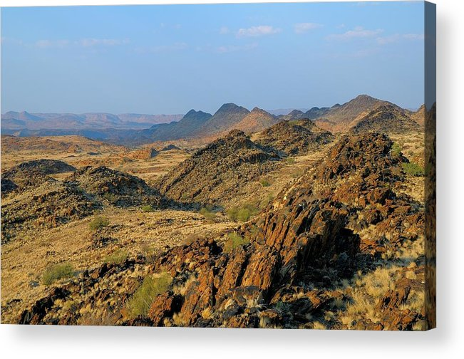 Scenics Acrylic Print featuring the photograph African Scenery by Vittorio Ricci - Italy