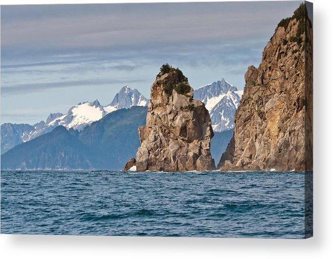 Acrylic Print featuring the photograph Alaska Coastline Landscape by Richard Jack-James