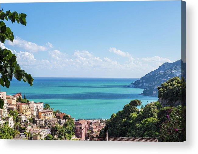 Scenics Acrylic Print featuring the photograph Amalfi Coast Landscape Vietri Village by Angelafoto