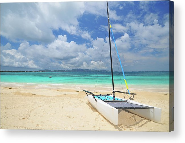 Sailboat Acrylic Print featuring the photograph Anguilla Beach by Maxian