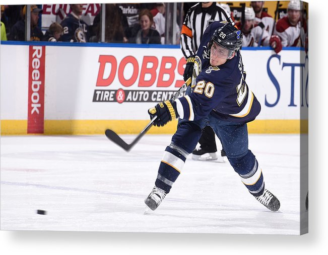 National Hockey League Acrylic Print featuring the photograph Arizona Coyotes V St Louis Blues by Scott Rovak