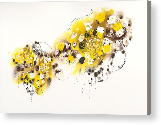 Aspens Acrylic Print featuring the painting Aspen Celebration #2 by Nadine Rippelmeyer