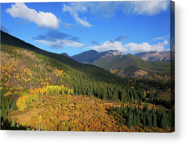 Scenics Acrylic Print featuring the photograph Autumn Color In Colorado Rockies by A L Christensen