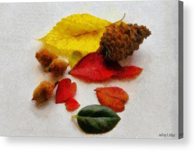 Acorn Acrylic Print featuring the painting Autumn Medley by Jeffrey Kolker