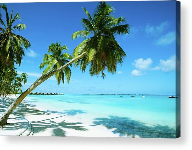 Water's Edge Acrylic Print featuring the photograph Beautiful Beach Resort by Phototalk