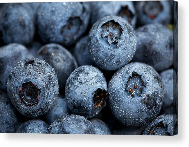 Surrey Acrylic Print featuring the photograph Blueberries Fruits by Kevin Van Der Leek Photography