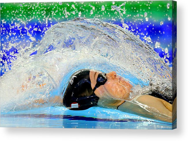 Glasgow Acrylic Print featuring the photograph British Gas Swimming Championships 2014: Day Four by Clive Rose
