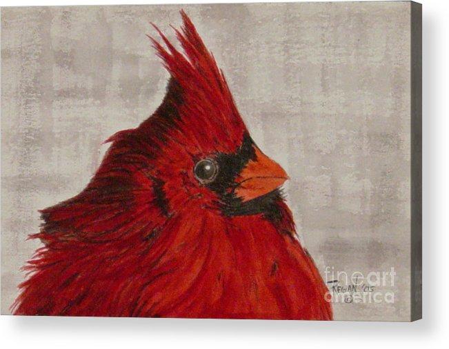 Cardinal Acrylic Print featuring the painting Cardinal by Regan J Smith