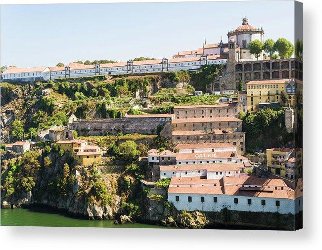 Clear Sky Acrylic Print featuring the photograph Casa Calem, Port Wine Houses, Porto by John Harper