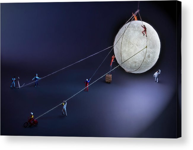 Planetary Moon Acrylic Print featuring the photograph Catch The Moon by Antonio Iacobelli