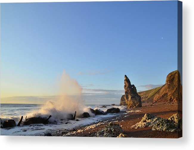 Scenics Acrylic Print featuring the photograph Catching Waves by Paul Downing