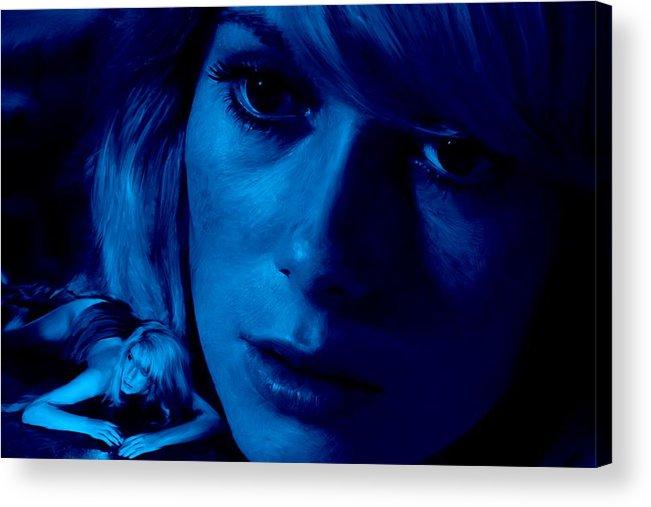 Catherine Deneuve Acrylic Print featuring the digital art Catherine Deneuve in the film Repulsion by Gabriel T Toro