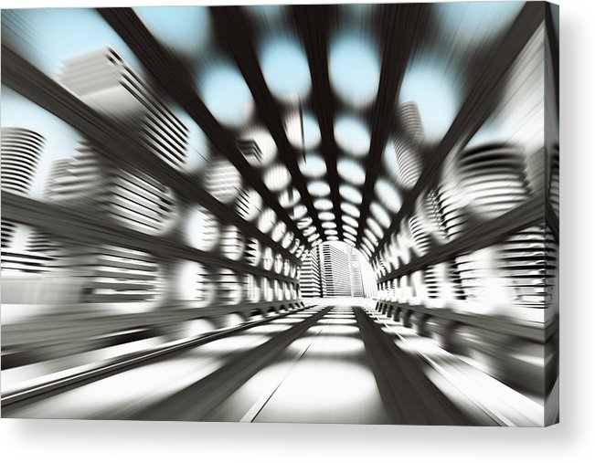 Outdoors Acrylic Print featuring the digital art Cityscape by Jorg Greuel