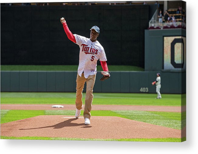 Sport Acrylic Print featuring the photograph Cleveland Indians V Minnesota Twins by Brace Hemmelgarn