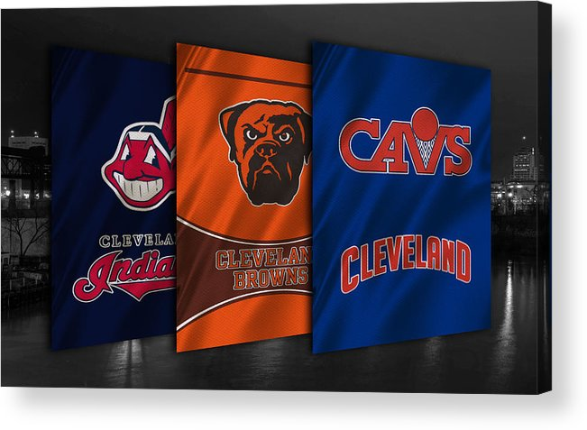 Indians Acrylic Print featuring the photograph Cleveland Sports Teams by Joe Hamilton