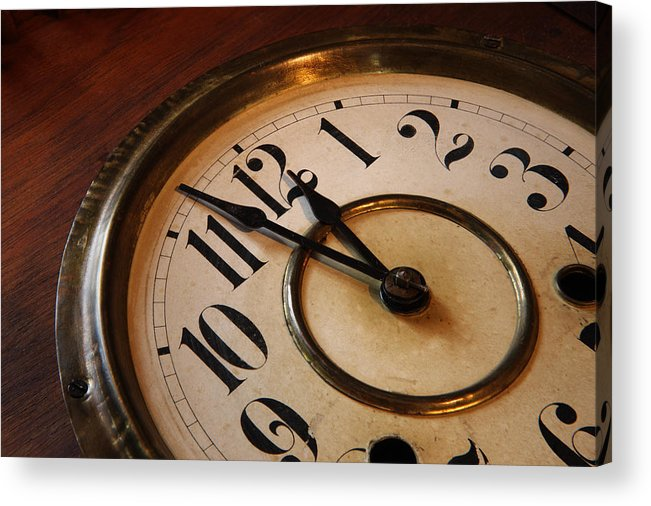 Very Acrylic Print featuring the photograph Clock face by Johan Swanepoel