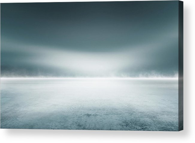 Tranquility Acrylic Print featuring the digital art Cold Studio Background by Aaron Foster