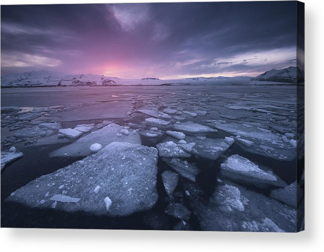 Landscape Acrylic Print featuring the photograph Cold World by Carlos F. Turienzo