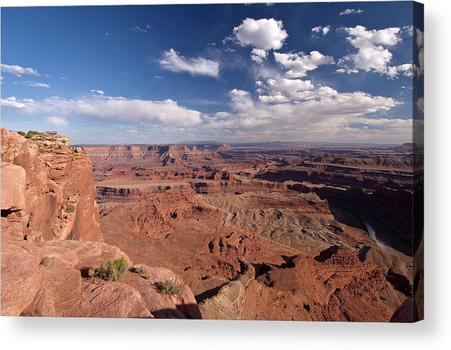 Scenics Acrylic Print featuring the photograph Colorado River Canyon From Dead Horse by John Elk