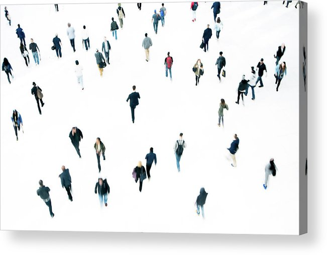 Working Acrylic Print featuring the photograph Commuters by Ferrantraite