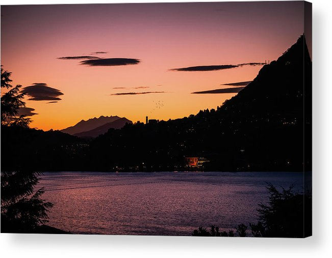 Town Acrylic Print featuring the photograph Como, Italian Lake Distric by Deimagine