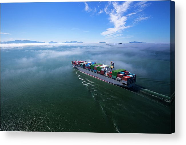 Freight Transportation Acrylic Print featuring the photograph Container Ship by Dan prat