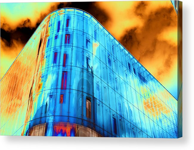 Psychedelic Acrylic Print featuring the photograph Corner Facade in London #2 by Richard Henne