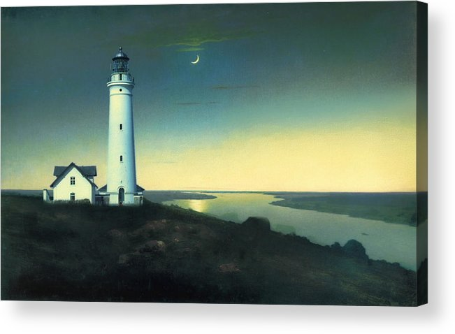 Light House Acrylic Print featuring the painting Daily Illuminations by Douglas MooreZart
