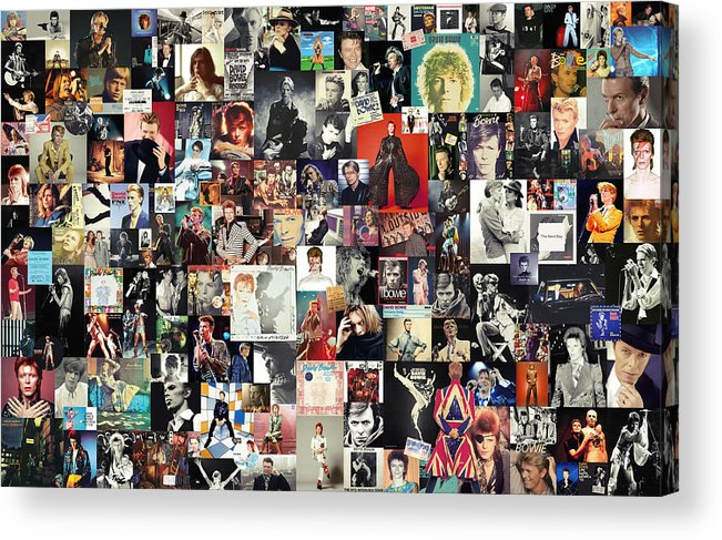 David Bowie Acrylic Print featuring the digital art David Bowie Collage by Zapista OU