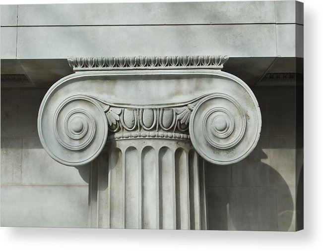 Shadow Acrylic Print featuring the photograph Detail an ionic column by Norman Posselt