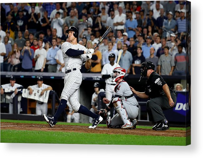 Second Inning Acrylic Print featuring the photograph Divisional Round - Cleveland Indians v New York Yankees - Game Four by Al Bello