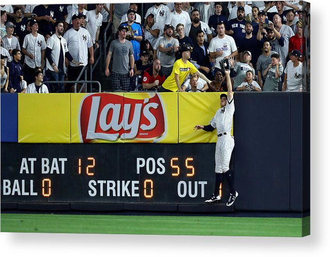 People Acrylic Print featuring the photograph Divisional Round - Cleveland Indians v New York Yankees - Game Three by Al Bello