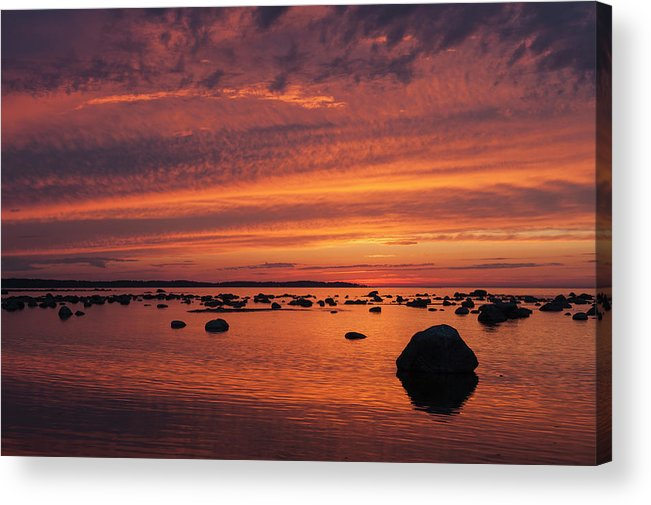 Tranquility Acrylic Print featuring the photograph Dramatic Sunset Light by Franz Aberham