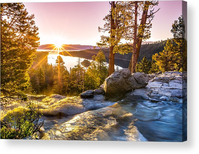 California Acrylic Print featuring the photograph Eagle Falls Emerald Bay Lake Tahoe Sunrise First Light by Scott McGuire