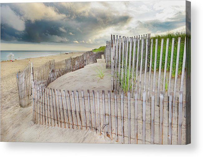 Tranquility Acrylic Print featuring the photograph East Hampton Beach, Long Island, New by Mitchell Funk