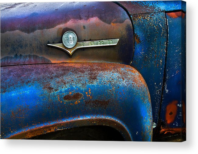Appalachia Acrylic Print featuring the photograph F-100 Ford by Debra and Dave Vanderlaan