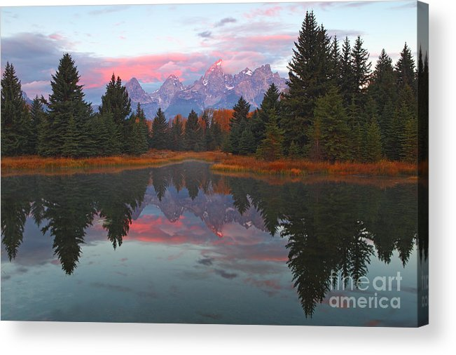 Schwabacher's Landing Acrylic Print featuring the photograph Fall At Schwabacher's by Bill Singleton