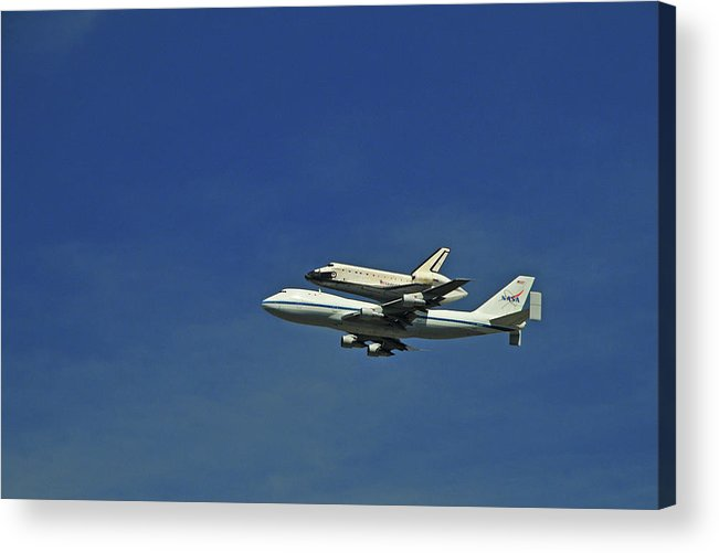 Teamwork Acrylic Print featuring the photograph Final Flight Of The Space Shuttle by Mitch Diamond