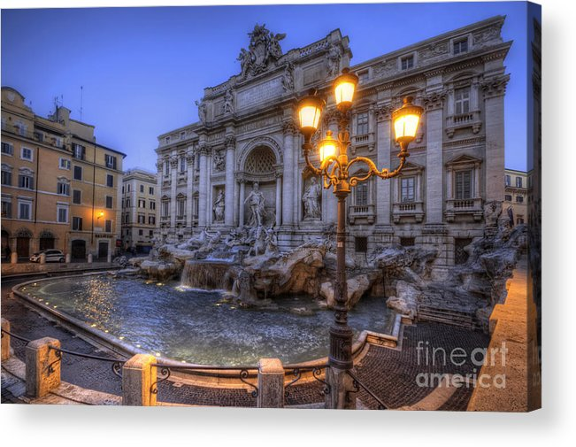 Yhun Suarez Acrylic Print featuring the photograph Fontana Di Trevi 3.0 by Yhun Suarez