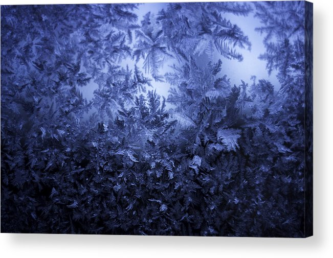 Ice Acrylic Print featuring the photograph Frost on window #3 by Nathan Seavey