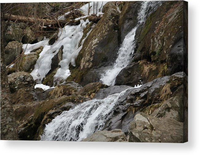 Waterfall Acrylic Print featuring the photograph Frosty by Dervent Wiltshire