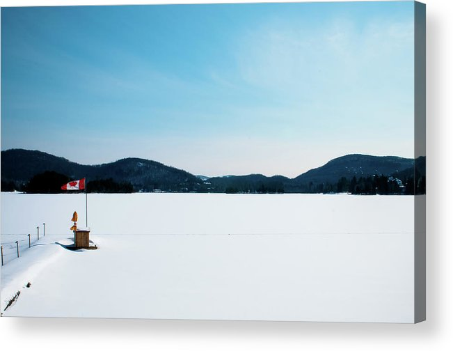 Scenics Acrylic Print featuring the photograph Frozen Lake In Canada by Haja Rasambainarivo