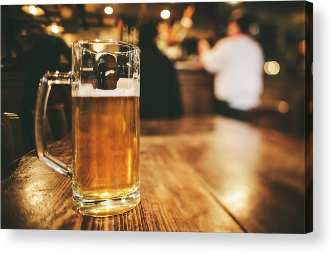 Alcohol Acrylic Print featuring the photograph Glass Of Bier, Brewery In Germany by Moreiso