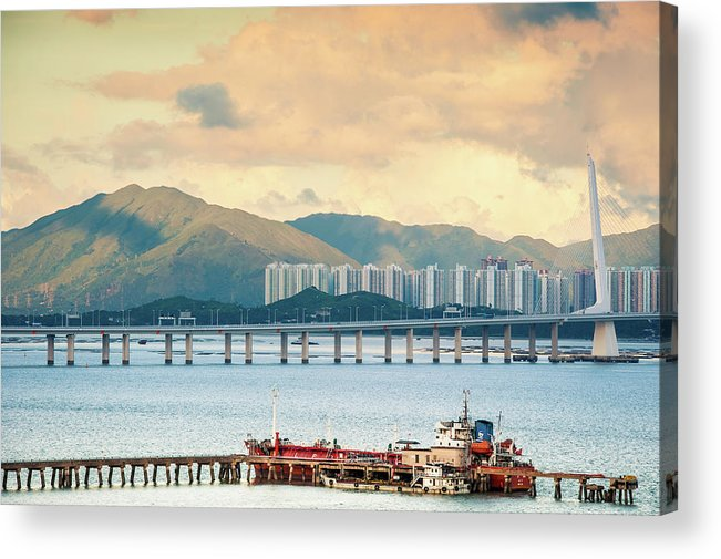 Outdoors Acrylic Print featuring the photograph Good Morning Shenzhen & Hong Kong by Capturing A Second In Life, Copyright Leonardo Correa Luna