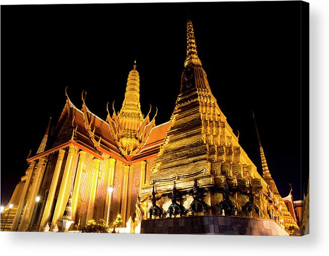 Southeast Asia Acrylic Print featuring the photograph Grand Palace, Bangkok, Thailand by Holgs