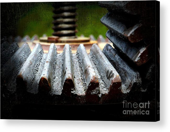 Green Acrylic Print featuring the photograph Green Apple Press by The Stone Age