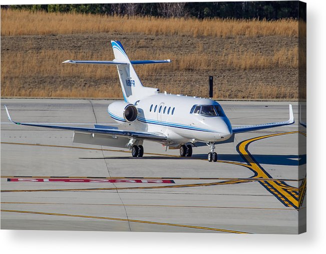 Acrylic Print featuring the photograph Hawker 900XP by Richard Jack-James