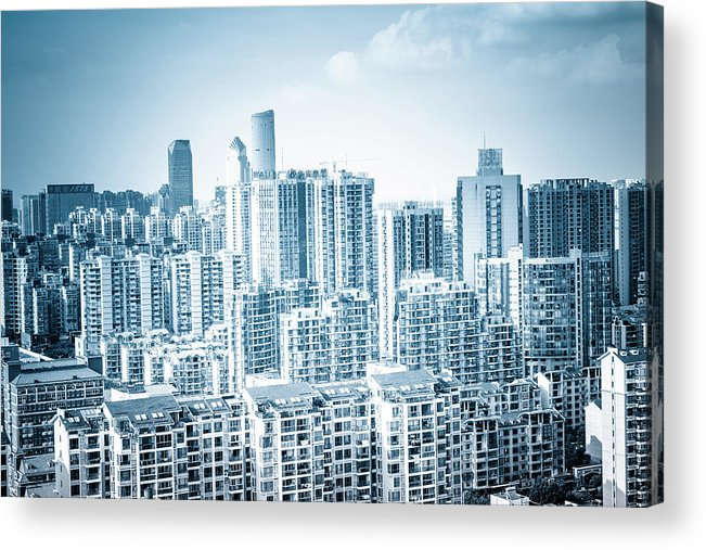 Residential District Acrylic Print featuring the photograph High Rise Residential Area by Aaaaimages