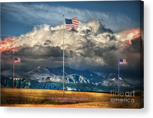Flag Acrylic Print featuring the photograph Home On The Range by The Stone Age
