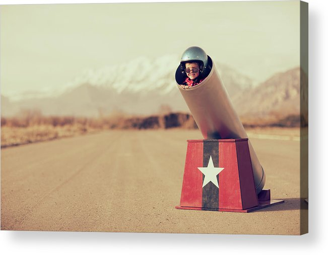 4-5 Years Acrylic Print featuring the photograph Human Cannonball by Richvintage